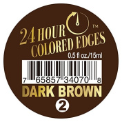 Ebin 24 Hour Coloured Edges .150ml Dark Brown