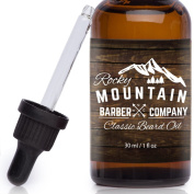 Rocky Mountain Beard Oil - Unscented- 100% Natural - Premium, Cold-Pressed 9 Oil Blend with utrient Rich Eucalyptus, Jojoba, Coconut Oil
