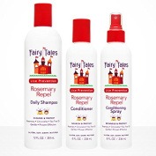 Fairy Tales Combo Pack - (1) Rosemary Repel Shampoo - 350ml, (1) Rosemary Repel Conditioner - 240ml and (1) Rosemary Repel Conditioning Spray - 240ml & includes (1) FREE Ponytail Lollipop! Great Gift for your little girl's hair!