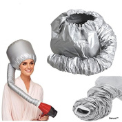 BerucciTM Portable SoftHood Hair Drying Styling Cap Bonnet Hood Hat Blow Hair Dryer Attachment