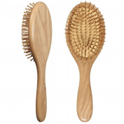 LOUISE MAELYS Oval Wooden Bristle Hair Brush Detangling Massage Dry Scalp Bamboo Hairbrush Wood Hair Comb