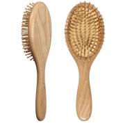 LOUISE MAELYS Oval Wooden Bristle Hair Brush Detangling Massage Dry Scalp Bamboo Hairbrush Wood Hair Comb
