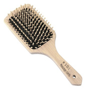 BabyMax Wood Bristle Large Square Wooden Cushion Hair Brush Comb