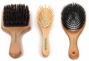 GranNaturals 3 Pcs Everyday Hair Brush Set