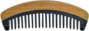 TANG DYNASTY® No Static 100% Handmade Natural Fish Fine Black Ox Horn Comb With Gift Box 020
