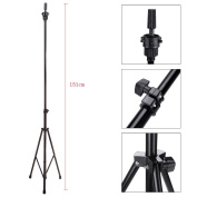 Abody Adjustable Mannequin Head Stand Tripod with Carry Bag