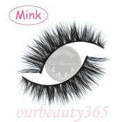 MY-008 Handmade luxurious 100% Real Mink 3D Natural Cross Winged False eyelashes fake eye lashes makeup