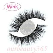 MY-008 Handmade luxurious 100% Real Mink 3D Natural Cross Winged False eyelashes fake eye lashes makeup
