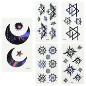 Temporary Tattoo Paper, SQdeal 10 Sheets Henna Body Art Stickers Fake Tattoo Designs for Women Men Adults