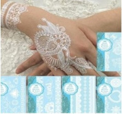 Cavin Schon's Henna Temporary Metallic and White Lace Tattoos