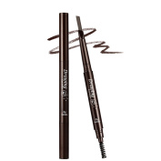 Familybuy Double-end Waterproof Eyebrow Pencil Automatic Pro Makeup Eyebrows Set With Eye Brow Comb Brush-Dark Brown
