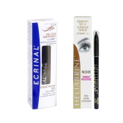 Ecrinal Lash & Brow Gel and Heliabrine Long Wear Eye Pencil (Black) Set