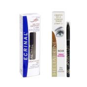 Ecrinal Lash & Brow Gel and Heliabrine Long Wear Eye Pencil (Black) Set
