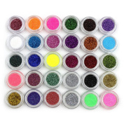 30pcs Mixed Colours Powder Pigment Glitter Mineral Spangle Eyeshadow Makeup Cosmetic Set Long-lasting Random Colo