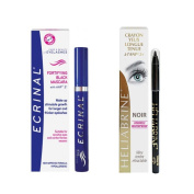 Ecrinal ANP2 Mascara and Heliabrine Long Wear Eye Pencil (Black) Set