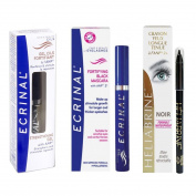 Ecrinal Lash & Brow Gel, ANP2 Mascara and Heliabrine Long Wear Eye Pencil (Black) Set