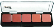Blush Palette HD Glamour Creme Foundation Palette Graftobian 5 Shades Cruelty