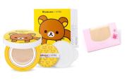 [A'pieu] RILAKKUMA EDITION Air Fit Cushion XP Special Package #23(+refill 1pcs+air in Puff) + SoltreeBundle Natural Hemp Paper 50pcs