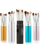 Fashion Mini 5Pcs cylinder makeup brush sets