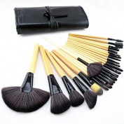 24pcs Pony Hair Makeup Brushes set Professional Wood Handle Burlywood blush/foundation/powder/concealer/ shadow/liner brush cosmetic kit