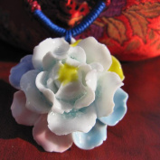 A & C Fashion Ceramics Lotus Shaped Necklace for Women. China Tradition Weave Necklace for Girl.