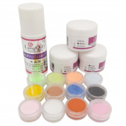 Warm Girl 3 colours Nail Acrylic Powder pink clear white + 75ml Acrylic Liquid Tips Set acrylic nail Kit