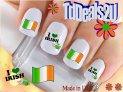 Country Flags Nail Decals - Ireland Flag - WaterSlide Nail Art Decals - Highest Quality! Made in USA