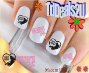 General Nail Decals - Firefighters Wife 3 - WaterSlide Nail Art Decals - Highest Quality! Made in USA