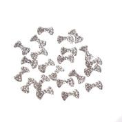 GBSTORE 20 Pcs Special Charming 3D Nail Art Designs Nail Art Bow Tie Alloy Rhinestones DIY Decoration