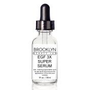 EGF 3X SUPER SERUM By Brooklyn Beauty Lab- Face Serum For Skin Rejuvenation- Anti-Wrinkle Formula With Organic Oils- Boosts Collagen Production- Anti Ageing, Moisturising & Repairing Serum- 30ml