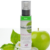 100% Organic Apple Cider Vinegar Toner + Tea Tree, Rose, Chamomile, Lemon Grass and Geranium Hydrosols.