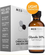 Glycolic Acid 30% Peel 60ml Light Strength Peel for Fine Lines, Wrinkles, and Dark Spots