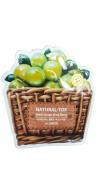 2 Mask Sheets of The SAEM Natural - tox Green Grape Mask Sheet (Vitalizing & Purifying).