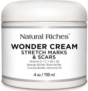 Wonder Cream for Stretch Mark and Scars from Natural Riches for Removal of Scars & Pregnancy Stretch Marks, helps Firming & Tighten Loose Skin. Reduces Appearance of Scars and Keloids