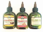 Shea Butter Tea Tree Vitamin E oil Skin Hair Health Enhancing 3 Pc Set