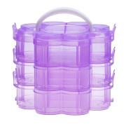 Hatop Three Layer Detachable Lattice Storage Box Plastic Storage
