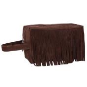 Hatop Fashion Fleece Fabric Tassel Handbag Cosmetic Bag