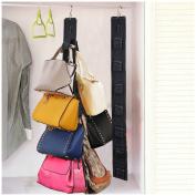 MLMSY Homewares Hanging Handbag Organiser-Canvas Hanging Purse Rack Handbag Closet Organiser Storage with Hook