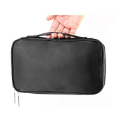 ULTNICE Cosmetic Makeup Bag Double Layer Solid Travel Toiletry Bag