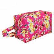 Hatop Fashion Women Waterproof Nylon Portable Cosmetic Toiletry Bags Travel Storage Organiser