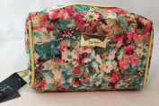 Nicole Miller Large Floral Cosmetic Travel Bag