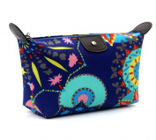 HOYOFO Womens Travel Cosmetic Bags Makeup Clutch Pouch Cosmetic and Toiletries Organiser Bag,Dark Blue