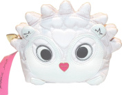 Betsey Johnson Hedgehog Cosmetic Makeup Bag Pink White