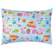 Hello Paris Toddler/Children/Teen 100% Cotton Pillowcase by OTES OWL with Down Softness Pillow