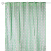 Mint Green Arrow Print Window Drapery Panels - Set of Two 210cm by 110cm Panels