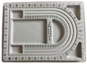 "Bead Jewelry Design Board 13"" x 9' Grey Flock"