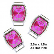 TVT 2pcs Fancy Rectangle Ribbon Watch Faces For Interchangeable Beaded Bands TVT-4819