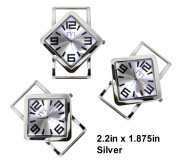 TVT 2pcs Diamond Ribbon Watch Faces for Your Interchangeable Beaded Bands 5788TVT