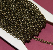 30m of Antique Brass Rollo chain 3.2mm unsolder links