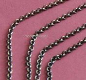 30m of Antique Brass Rollo chain 3mm solder links